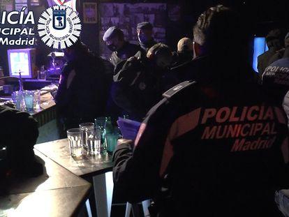 La Policía Municipal interviene en una fiesta clandestina el pasado 26 de octubre