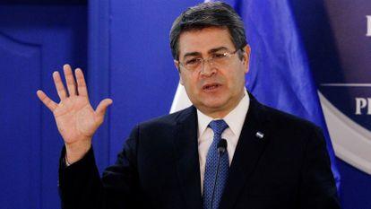 Juan Orlando Hernández, presidente de Honduras, en Tegucigalpa, en enero de 2020.