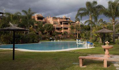 Imagen del apartamento del matrimonio González Cavero en Estepona.