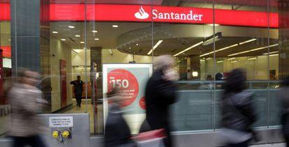 Una oficina de Banco Santander en Nueva York.