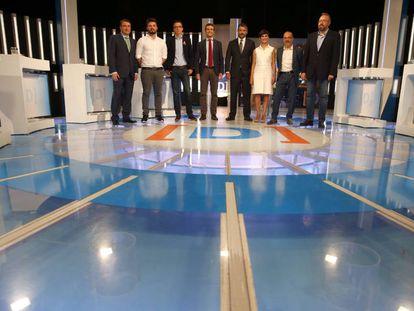 Imagen del debate a 7 celebrado el lunes en RTVE.