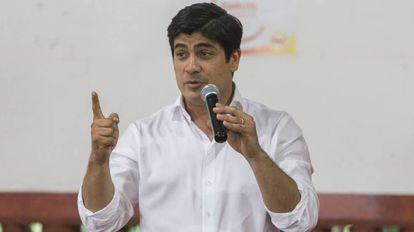 Carlos Alvarado, candidato del Partido Acción Ciudadana.