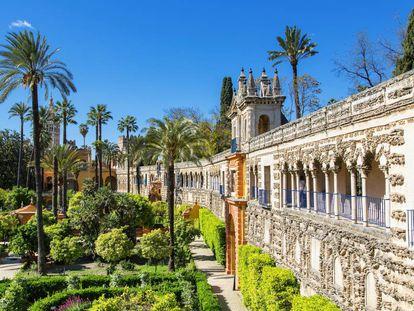 Palacio y jardines del Real Alcázar de Sevilla.