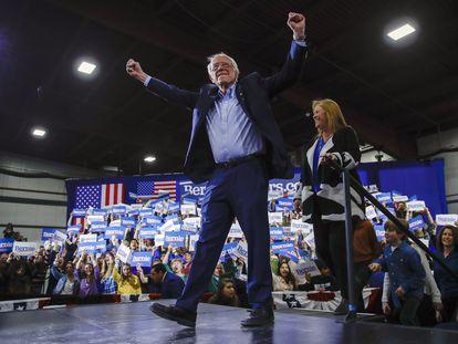 El candidato demócrata Bernie Sanders, en Vermont, el pasado martes.