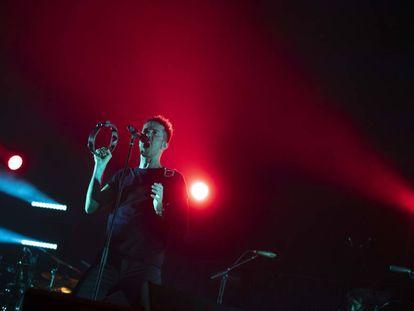Pucho, anoche durante el concierto de Vetusta Morla en el Wizink Center.