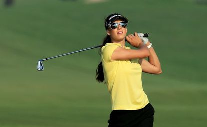 La golfista Maria Balikoeva