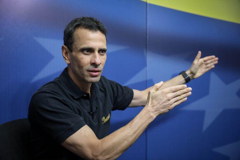 Henrique Capriles en entrevista con Efe en marzo de 2019, en Caracas (Venezuela).