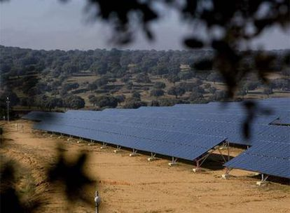Planta de energía fotovoltaica en San Pedro del Valle (Salamanca).