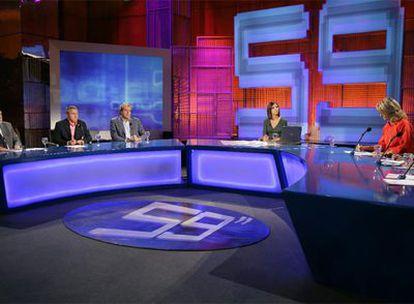 Una imagen del programa <i>59 segundos</i> en la cadena pública TVE 1.