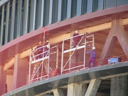 Trabajadores de la construcción, en una imagen de archivo.