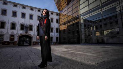 Judit Carrera, en el Pati de les Dones del CCCB, el centro cultural que dirige desde 2018.