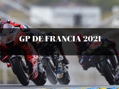 Los pilotos de MotoGP Johann Zarco, Luca Marini y Fabio Quartararo en el Gran Premio de Francia 2021 hoy sábado 15 de mayo.
