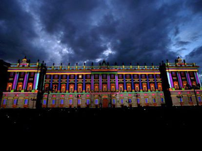 Preparativos en el Palacio Real del día de la Fiesta Nacional.