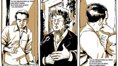 Imágenes cedidas de las algunas viñetas del cómic.