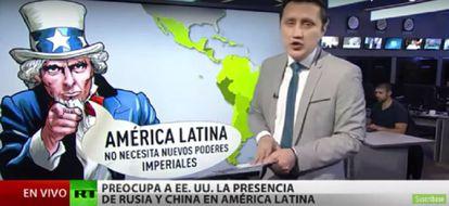 """El periodista ecuatoriano Tyron Lino informa el martes 6 de febrero sobre un comentario del secretario de Estado de EEUU, Rex Tillerson: """"América Latina no necesita nuevos poderes imperiales""""."""