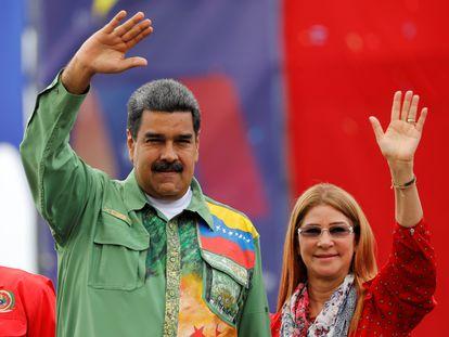 Nicolás Maduro y Cilia Flores, en mayo de 2018.