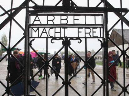 Campo de concentración de Dachau, este domingo.