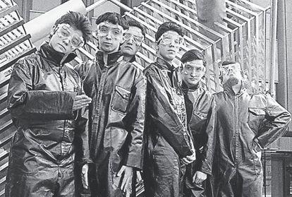 El grupo Aviador Dro, en una imagen promocional de 1980.