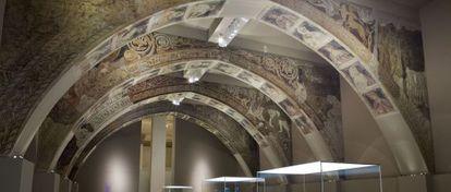 Las pinturas de la Sala Capitular de Sijena se exponen en el MNAC.