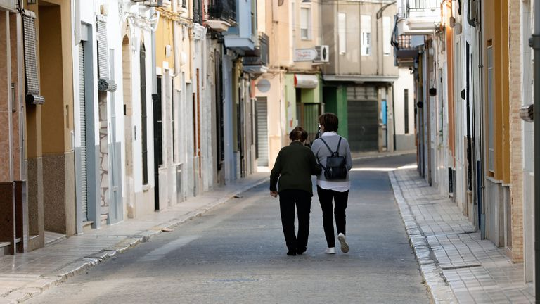 Imagen de la localidad valenicana de Guadassuar donde las salidas de las residencias de ancianos por navidad deberán durar siete días.