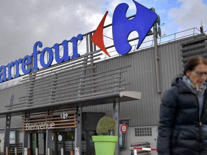 Imagen de un supermercado Carrefour en Nantes, Francia.