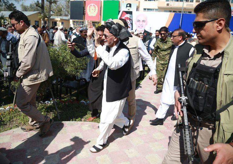 El presidente afgano, Ashraf Ghani, el 3 de marzo de 2020 en Jalalabad.