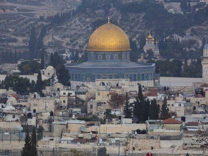 Una vista de la ciudad vieja de Jerusalén, este martes.