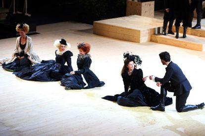 Una imagen de 'Amor & Shakespeare',estrenada anoche en el Teatre Grec