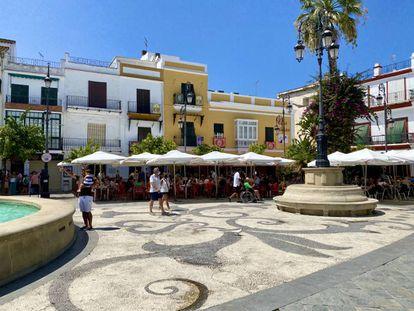 Plaza del Cabildo en Sanlúcar. J.C. CAPEL