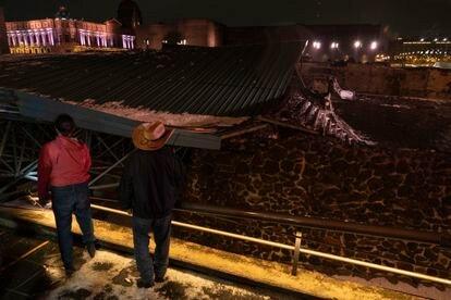 imagen del techo tras la tormenta.
