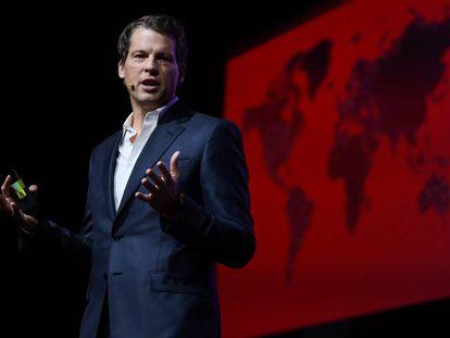 Greg Peters, en su conferencia del miércoles en la Web Summit de Lisboa.