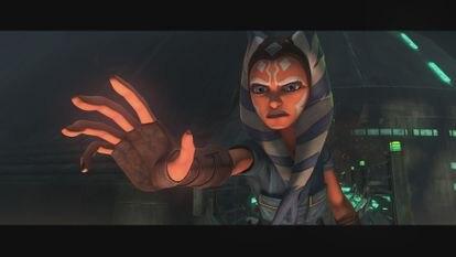 Ashoka Tano en la última temporada de 'The Clone Wars'.