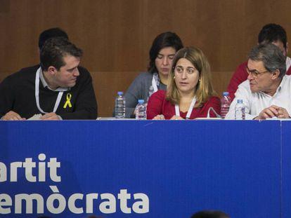 David Bonvehí, Marta Pascal y Artur Mas.