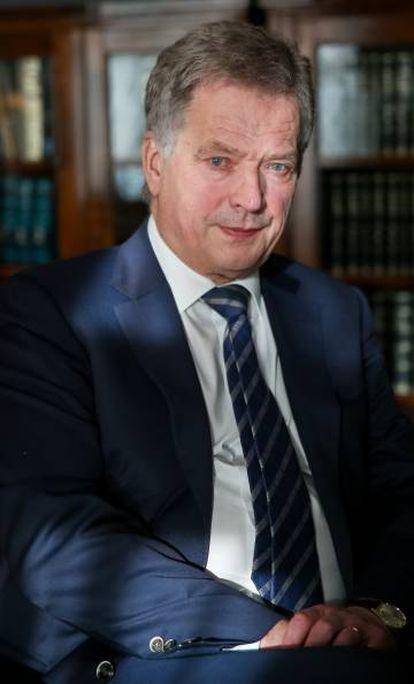 Sauli Niinistö, presidente de Finlandia.