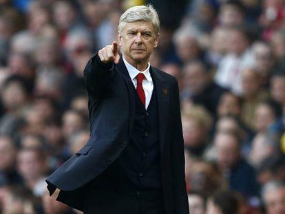Wenger, durante un partido del Arsenal.