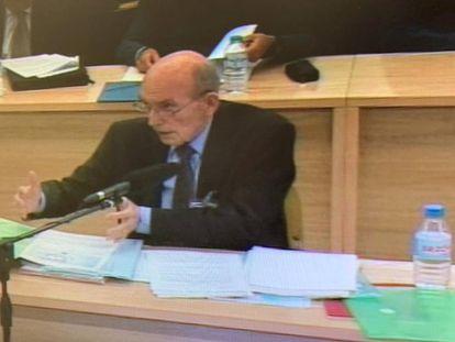 El exconsejero ejecutivo de Bankia José Manuel Fernández Norniella en el jucio ante la Audiencia Nacional por la salida a Bolsa de la entidad bancaria.