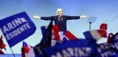 La candidata del Frente Nacional, Marine Le Pen, este sábado en Metz.
