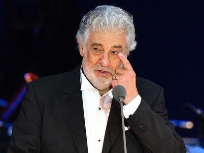 Plácido Domingo, durante un concierto en Hungría el 28 de agosto de 2019.