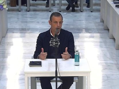 Sandro Rosell, durante el juicio en la Audiencia Nacional.