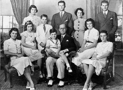 La familia Kennedy, en Nueva York, en 1938.