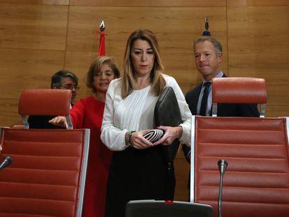 Susana DÍaz, a su llegada al Senado.