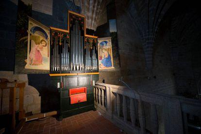 Órgano renacentistas de la iglesia de Santa María, en Garrovillas de Alconétar.