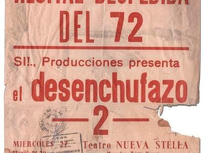Cartel del concierto 'El Desenchufazo' celebrado en Montevideo en 1972
