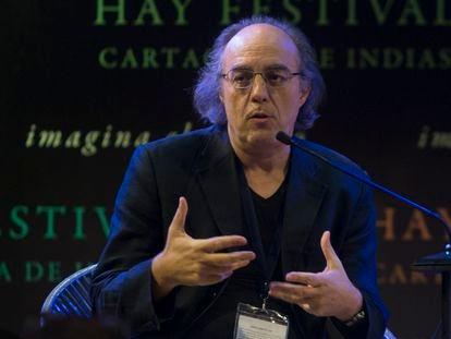 El fÍsico José Ignacio Latorre durante su participación en el Hay Festival.