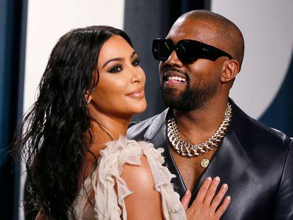 Kim Kardashian y Kanye West hace un año.