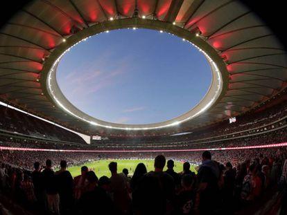 Interior del Wanda Metropolitano, el estadio del Atlético.