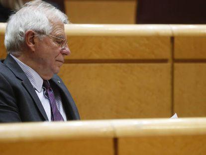 El ministro Josep Borrell, este martes en el Senado.