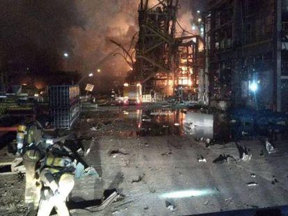 Accidente en la empresa química Iqoxe de La Canonja (Tarragona).