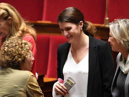 la secretaria de Estado de Igualdad, Marlene Schiappa, en el Parlamento.