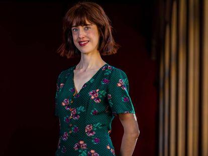 Irene Vallejo, retratada en Zaragoza, en febrero de este año.